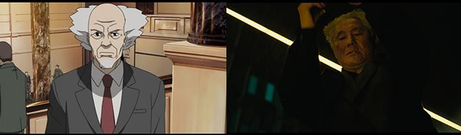 좌: '공각기동대' 아라마키 부장 / 우: '공각기동대: 고스트 인 더 쉘' 아라마키 - IMDB 제공