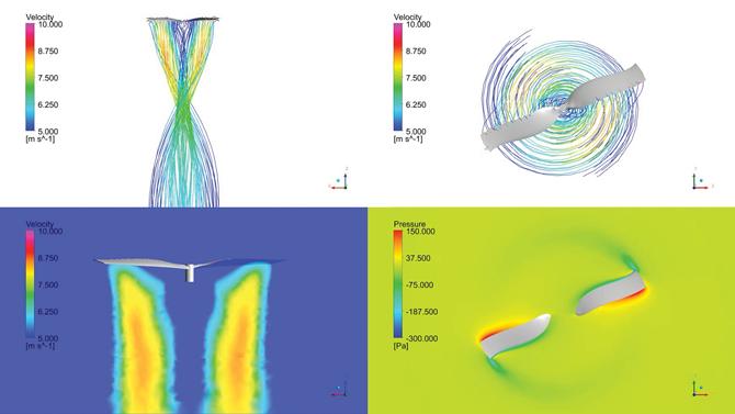 드론의 날개를 모델링한 뒤 시뮬레이션을 하는 모습. 이런 가상 실험을 40회 이상 반복해서 최적의 날개 디자인을 찾았다. - KISTI 가상설계센터 제공