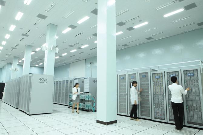 KISTI에서 운영 중인 슈퍼컴퓨터 4호기 타키온(Tachyon)Ⅱ의 모습. - KSTI 제공