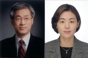 김응국 교수(왼쪽)와 원소윤 박사. - 충북대 제공