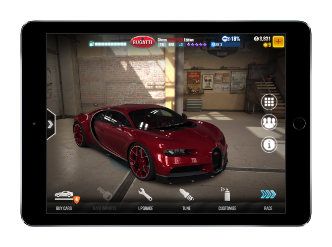 CSR2 Project Hero Bugatti 제공