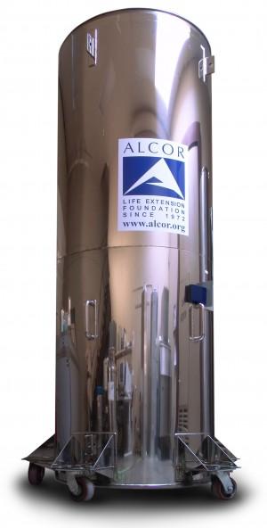 냉동인간을 보관하는 액체 질소 용기. - 알코어생명연장재단 제공