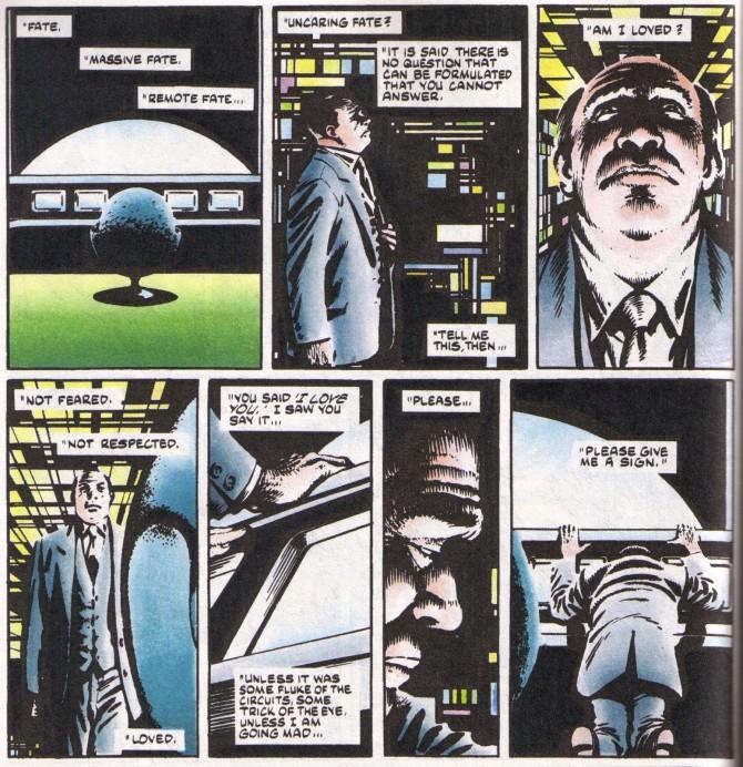 원작에선 독재자 아담 수잔이 통치에 사용하던 인공지능 컴퓨터 Fate와 사랑에 빠진다 - DC COMICS 제공