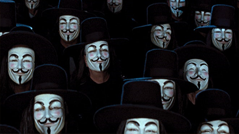 부패권력에 대한 우리의 저항을 예견? '브이 포 벤데타'