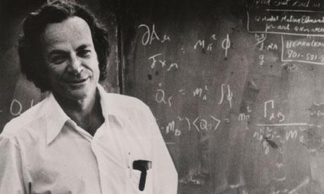 리처드 파인만 교수의 생전 강의 모습 - richard-feynman.net 제공