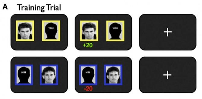 연구팀은 두 사람의 지위를 비교하는 방식으로 집단의 지위를 파악하게 했다. - 뉴런 제공