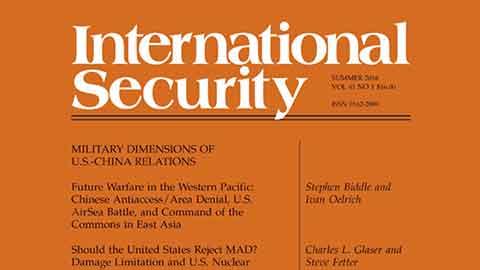 [과학을 보는 창, 저널] 국제 안보 (International Security)