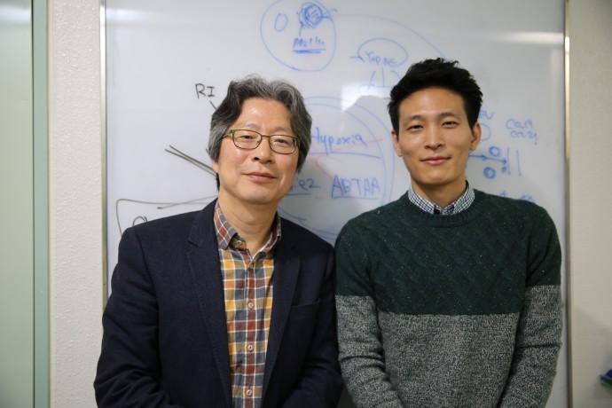 고균영 단장(왼쪽)과 박진성 연구원 - 기초과학연구원 제공