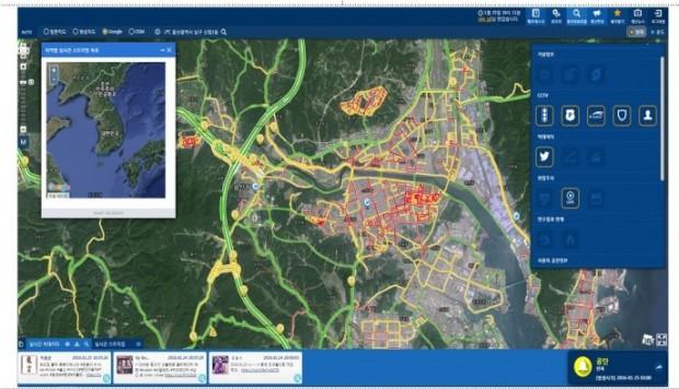 스마트빅보드 시스템 작동 모습 - 재난안전관리연구원 제공