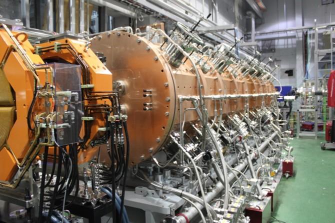 한국형중이온가속기 '라온'의 핵심장치 중 하나인 'RFQ 선형가속기'. - IBS 제공