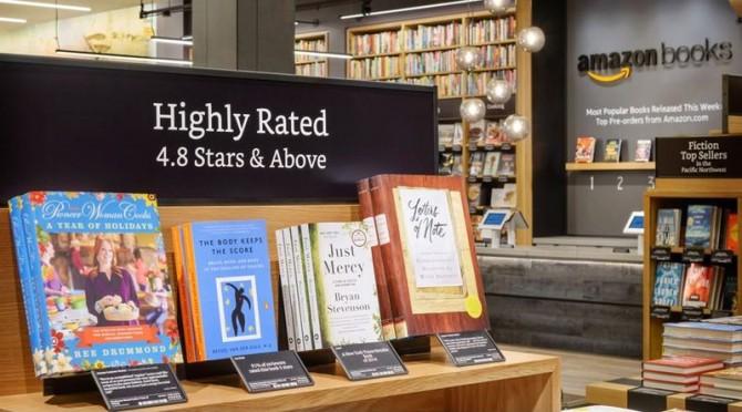 2015년 말 아마존이 선보인 오프라인 서점 Amazon Books의 모습 - 아마존북스 제공