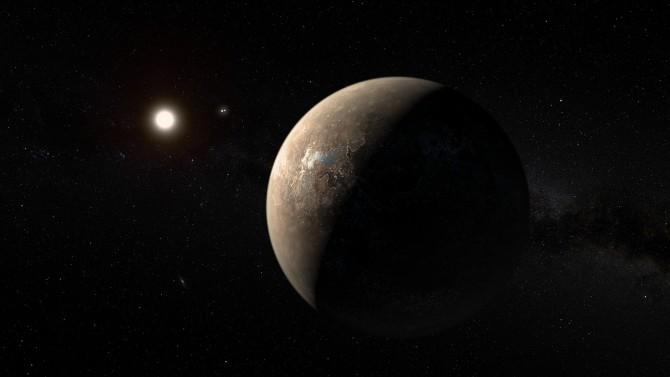 지구에서 가장 가까운 지구형 행성 '프록시마 b'의 상상도. - 위키미디어 제공