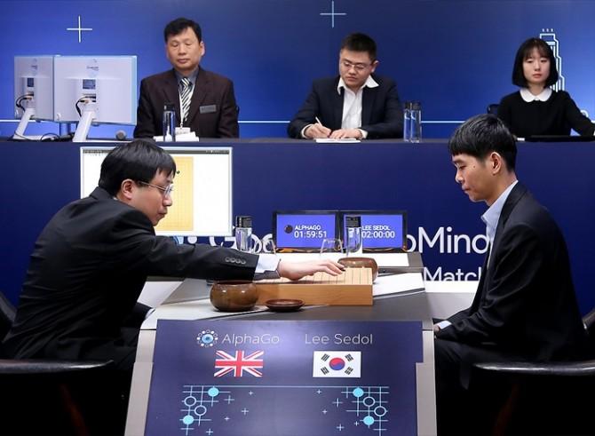 3월 서울 코엑스에서 열린 구글 딥마인드의 바둑 인공지능(AI) '알파고'와 이세돌 9단의 대국 현장. - 구글 제공