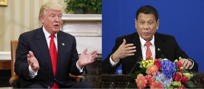 미국의 차기 대통령 당선인인 도널드 트럼프(왼쪽)와 필리핀의 로드리고 두테르테 대통령(오른쪽)은 막말 정치를 통해 한 나라의 지도자 반열에 올랐다. - 동아일보DB 제공