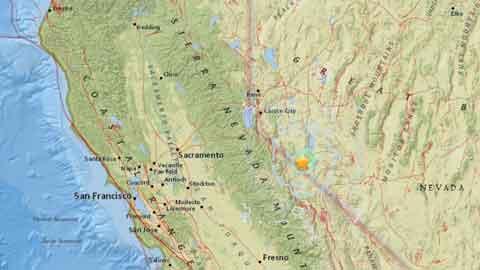 미국 네바다주 규모 5.7 지진…캘리포니아서도 여진 발생