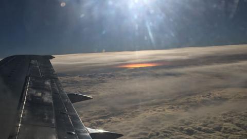 항공기에서 대폭발 장면 포착