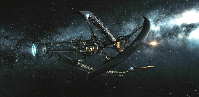 영화 '패신저스'에서 제2의 지구인 '터전2'로 향해 떠나는 초호화 거대 우주선 아발론호. 호텔 객실부터 천문대, 우주 광경을 즐길 수 있는 수영장 등을 갖추고 있다. 총 길이 1000m의 이 우주선은 우주공간에서 얻은 수소로 핵융합 반응을 일으켜 전력을 얻는다. - UPI코리아 제공
