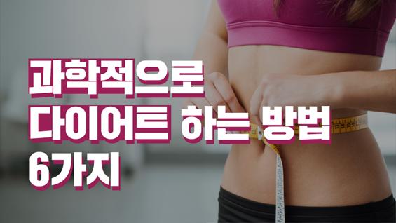 [카드뉴스] 과학적으로 다이어트 하는 방법 6가지