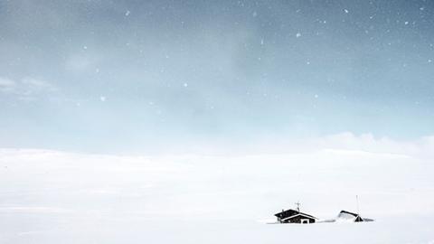 노르웨이, 눈에 덮인 집
