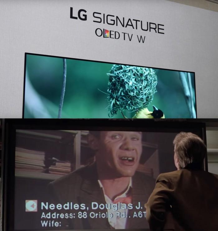 LG 시그니처 OLED TV W(위)와 영화