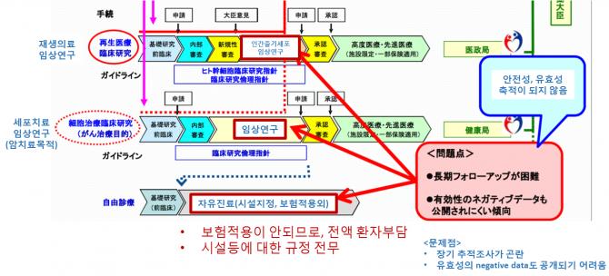 일본 국립의약품식품위생연구소(NIHS)이 2013년 발표한 보고서 중 일부(http://www.nihs.go.jp/kanren/iyaku/20130510-cgtp.pdf). - 일본 국립의약품식품위생연구소(NIHS) 제공