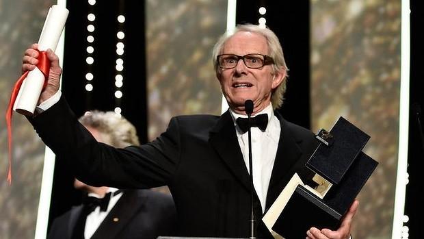 칸느 영화제에서 나 다니엘 블레이크로 두번째 황금 종려상을 받은 켄 로치 감독 - Getty Images 제공