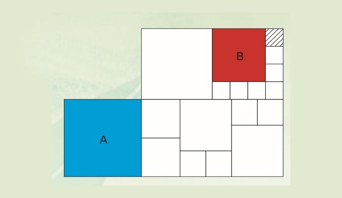 정사각형 A와 B의 한 변의 길이 비는 얼마? - (주)동아사이언스 제공