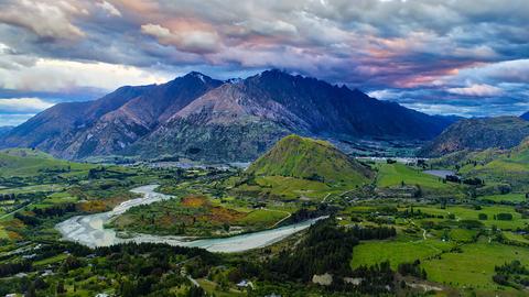 뉴질랜드의 푸르른 풍경