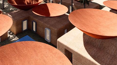 식수난 해결 디자인, 빗물 모으는 지붕