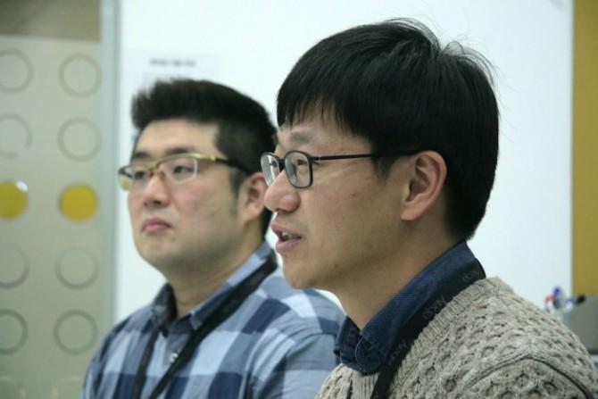 김정남, 김순석 차장(왼쪽부터)