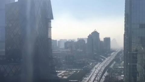 스모그 쓰나미 영상, 베이징 20분 만에 뒤덮어