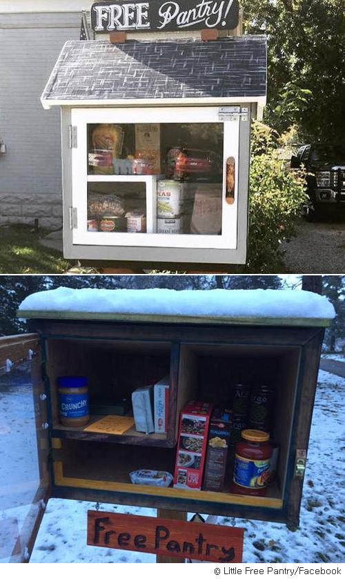 '무료 찬장 캠페인' 이웃과 나누는 공짜 음식과 생필품