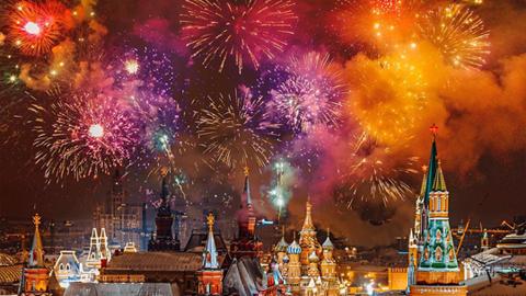 감탄 나오는, 모스크바의 불꽃놀이 사진
