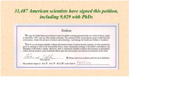예일대 연구진은 기후 변화에 대한 잘못된 정보의 예로