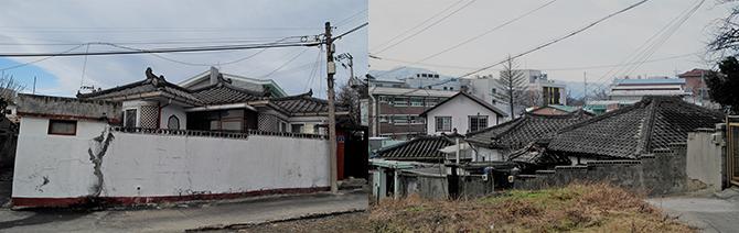 중국식 적산가옥과 일본식 적산가옥을 동시에 볼 수 있다. - 고기은 제공