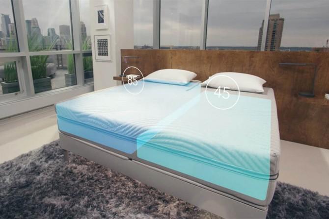 슬립넘버가 개발한 침대 '슬립넘버 360'은 매트리스의 강도를 조절할 수 있다. 또 압력센서로 사용자가 누워있는 자세나 뒤척이는 정도를 파악한다. - SLEEP NUMBER 제공