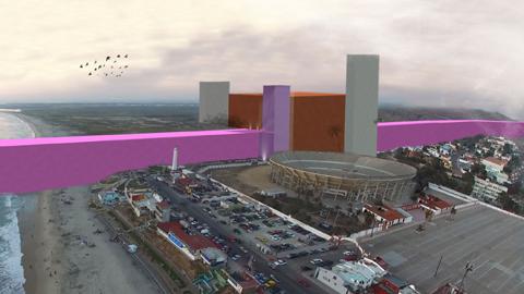 멕시코 국경 핑크 장벽, 어떨까?