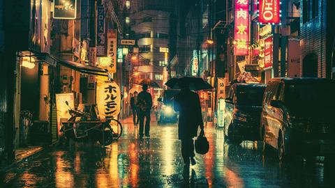 영화 같은 도쿄 도시 사진