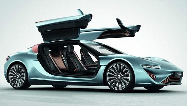 플로셀 배터리를 채용한 자동차 '콴트 e-스포츠리무진'의 모습 - 나노플로셀AG 제공