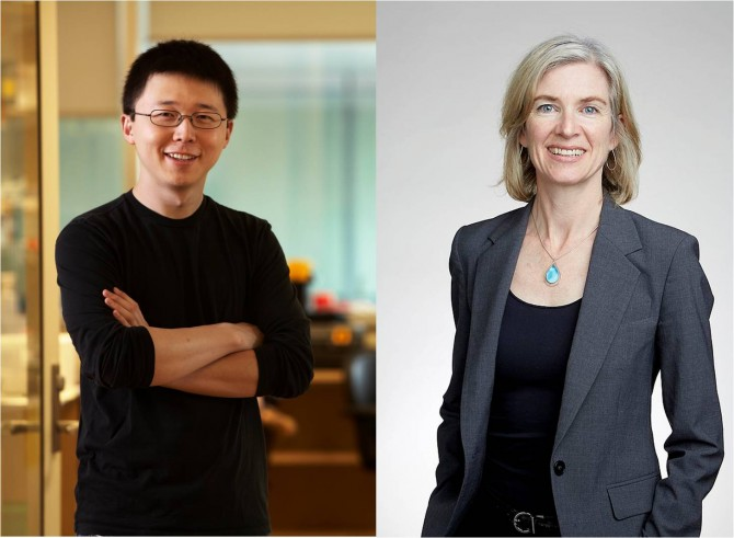 이번 소송에서 승리한 펑 장 MIT 교수(왼쪽)와 상대쪽이었던 제니퍼 다우드나 UC 버클리 교수(오른쪽) - 위키미디어, MIT 제공