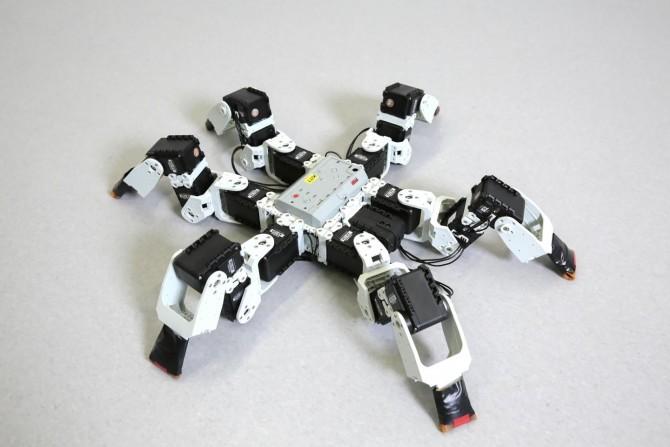 로잔연방공대 연구진이 개발한 6발 로봇. 곤충의 걸음걸이를 모방했지만 실제 곤충보다 더 빠르게 걸을 수 있다. - 로잔연방공대 제공