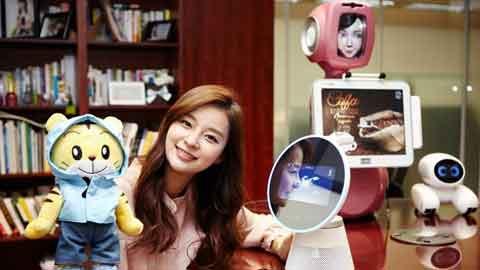 SK텔레콤, MWC서 음성인식에 영상인식 더한 AI 로봇 공개