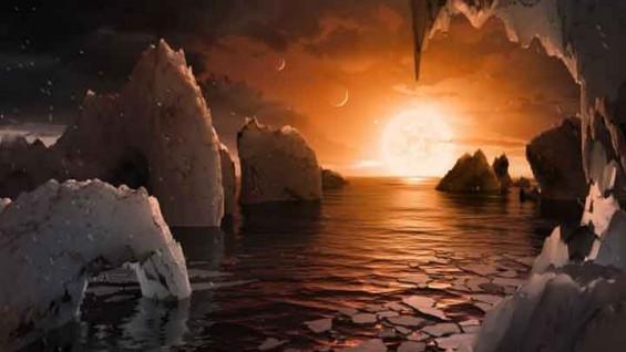 7개의 지구를 가진 새로운 태양계 찾았다!