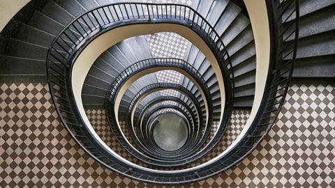 부다페스트의 아름다운 계단 사진