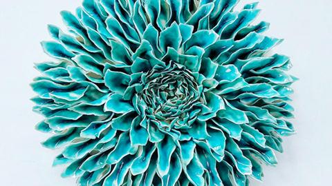 정교한 예술 작품, 도자기로 만든 꽃