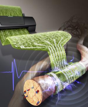 연구진이 프린팅 방식으로 제작한 신경전극의 개념도. - KIST 제공