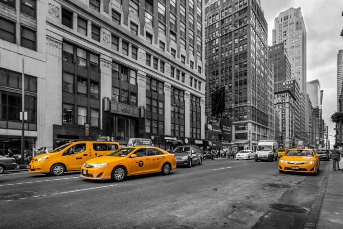 뉴욕 시내에서는 노란색 택시가 거리를 누빈다.  - pixabay 제공