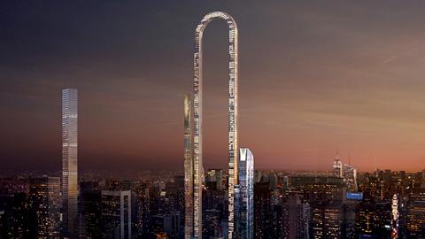 뉴욕의 구부러진 초고층 빌딩 프로젝트