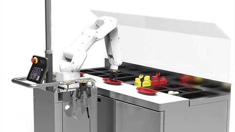 인공지능 로봇 플리피, 햄버거 가게 취업