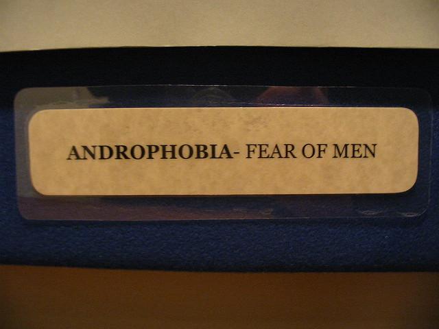 남성 공포증은 특정 공포증의 한 종류이다. 남성에 대한 비합리적인 강렬한 두려움, 주변에 남성이 있을 때 느끼는 과민함, 남성이 자신을 해칠지 모른다는 생각이나 악몽, 남성과의 어떠한 종류의 사회적 관계도 꺼리는 태도 등을 보인다. 증상이 심해지면 남성을 피하기 위해서 집 밖을 잘 나서지도 않으려고 한다. - flickr 제공